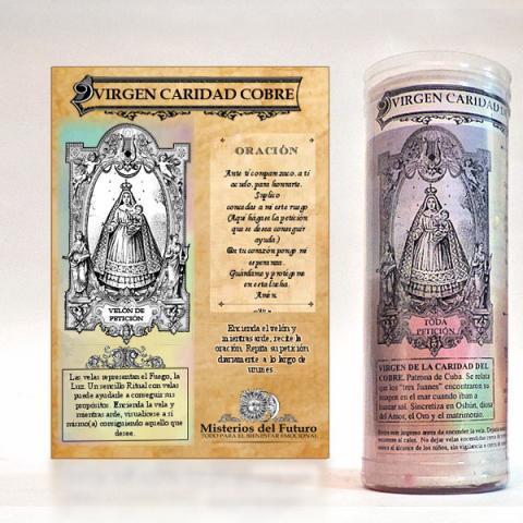 VELON VIRGEN CARIDAD COBRE| Comprar en ProductosEsotericos.com