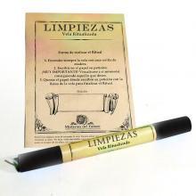 VELA RITUALIZADA NEGRA LIMPIEZAS (Blanco)| Comprar en ProductosEsotericos.com