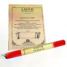 VELA RITUALIZADA ROJA AMOR (Rojo)| Comprar en ProductosEsotericos.com