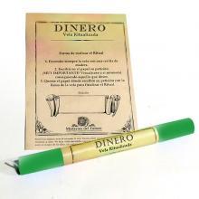VELA RITUALIZADA VERDE DINERO (Verde)| Comprar en ProductosEsotericos.com