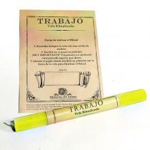 Vela Amarilla ritualizada Trabajo (Amarillo)| Comprar en ProductosEsotericos.com