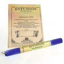 Vela ritualizada Azul Estudios (Azul)  Comprar en ProductosEsotericos.com
