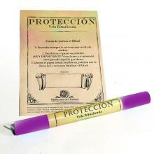 VELA RITUALIZADA LILA PROTECCIÓN| Comprar en ProductosEsotericos.com